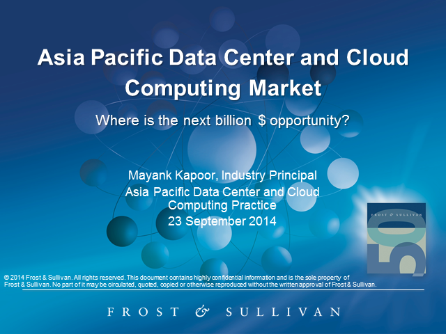 APAC Data Center & Cloud Computing Market: Where is the next bill. $ opportunity
