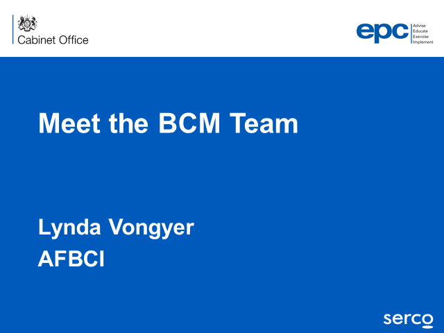 BCI webinar: Meet the business continuity management team