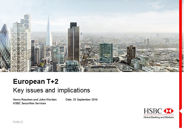 European T+2: Key issues and implications