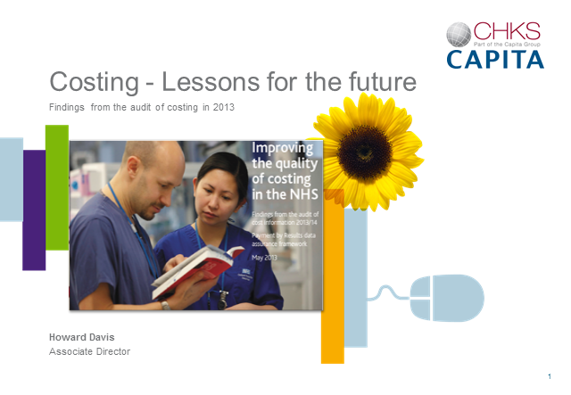 Costing - Lessons for the future