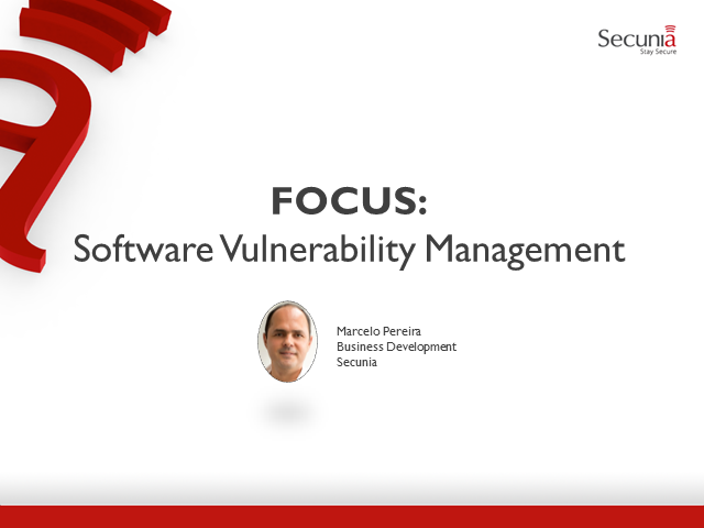 Focus: Software Vulnerability Management