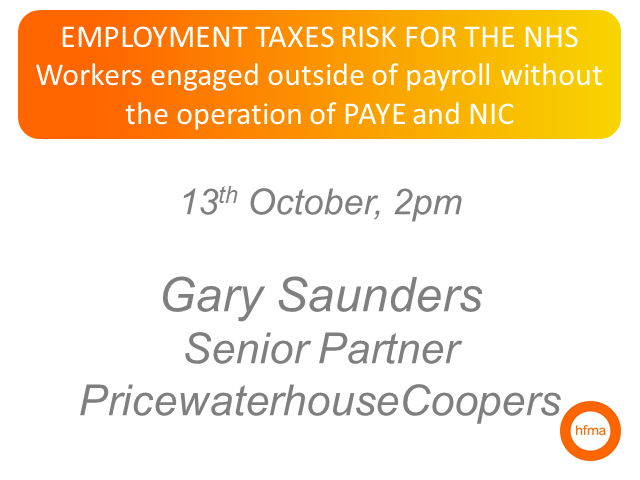 Employment taxes risk for the NHS