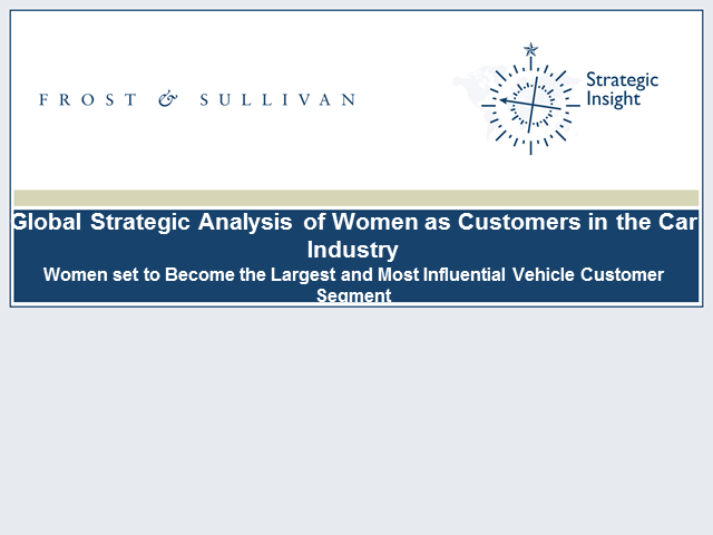 Global Strategic Analysis of Women as Customers in the Car Industry