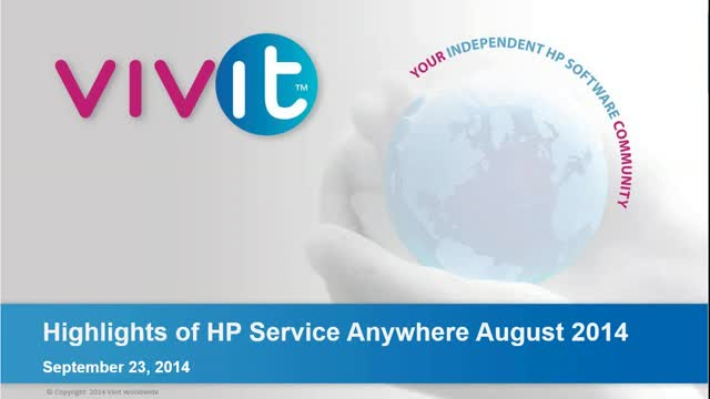 Highlights of HP Service Anywhere August 2014