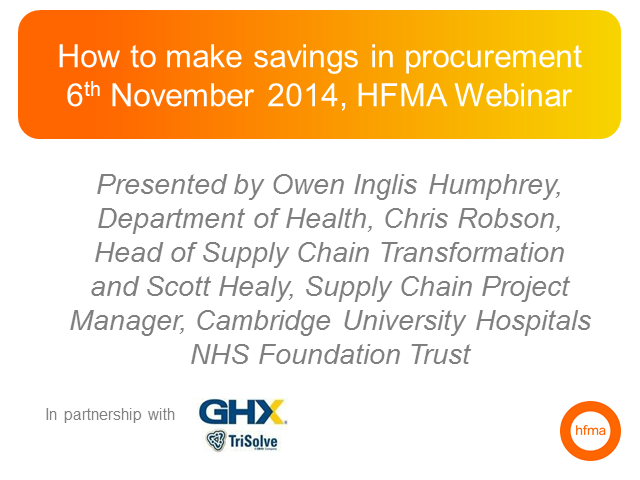 How to make savings in procurement