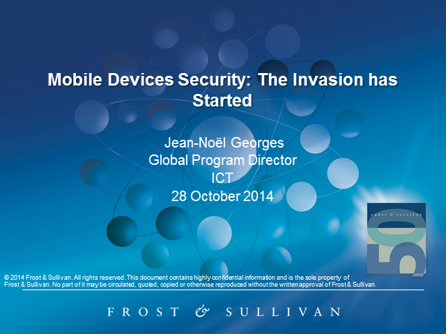 Mobile Devices Security: The Invasion has Started