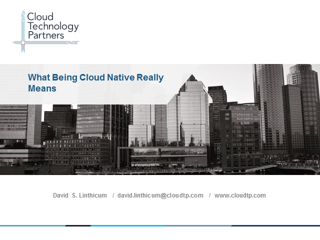What Being Cloud-Native Really Means