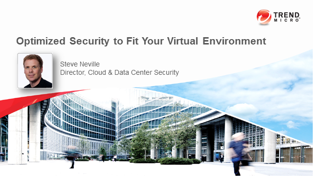 Optimized Security For Your Virtual Environment