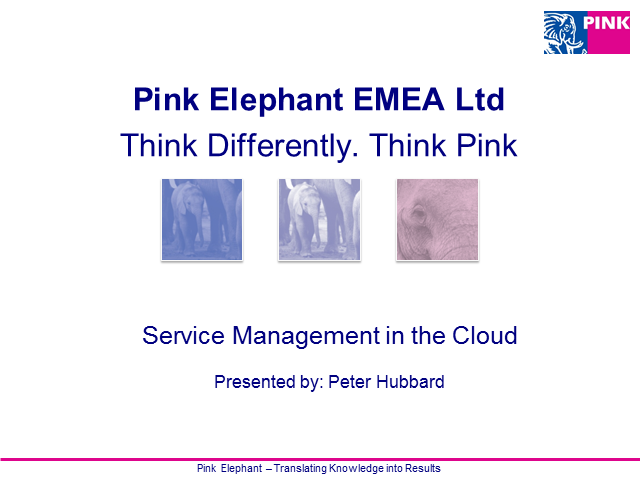 Service Management in the Cloud