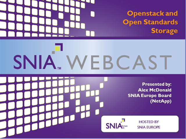 IaaS, OpenStack and Open Standards Storage
