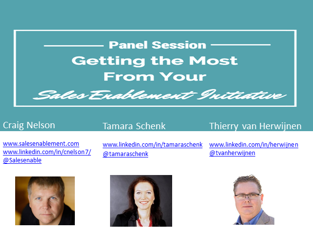 Panel: Getting the Most from your Sales Enablement Initiative