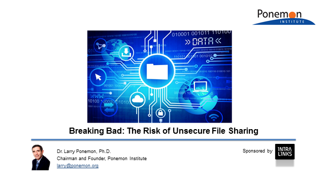 New Ponemon Institute Research: The Risk of Unsecure File Sharing