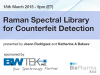 Raman Spectral Library for Counterfeit Detection