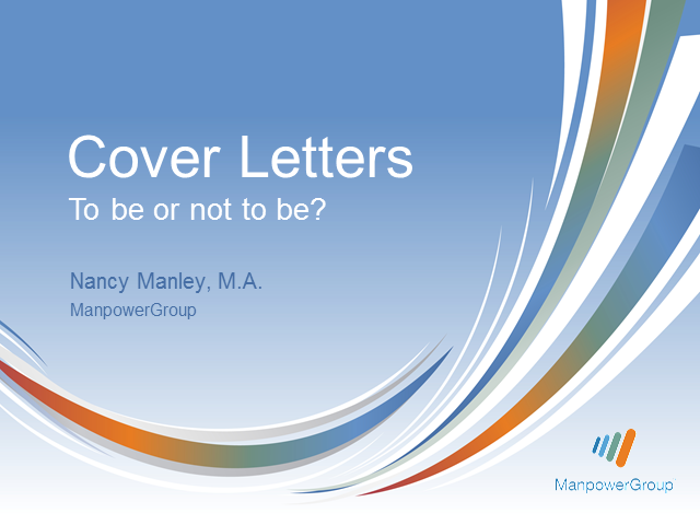 Cover Letters: To be or not to be?