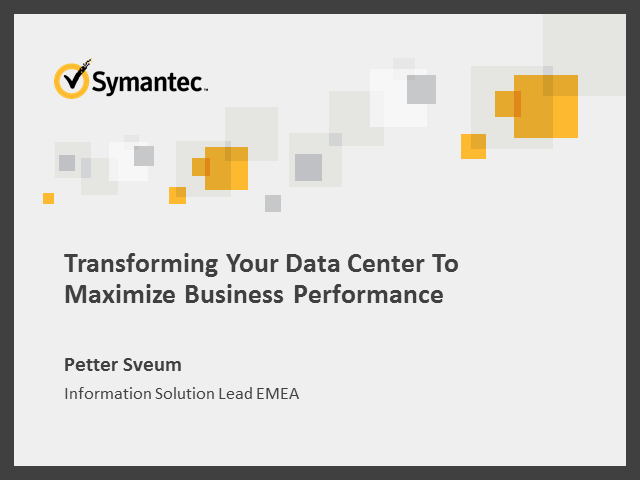 Transforming Your Data Center To Maximize Business Performance