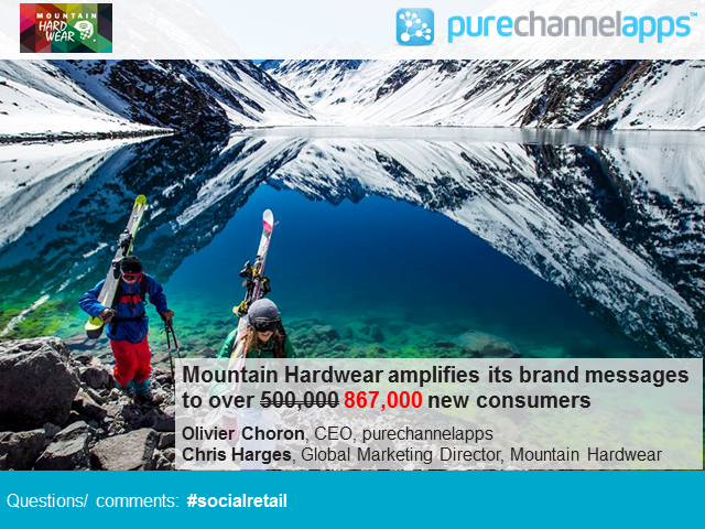 Mountain Hardwear amplifies its brand messages to over 500,000 new consumers