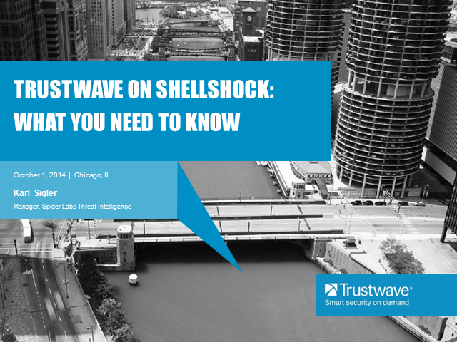 Trustwave on Shellshock: What You Need to Know