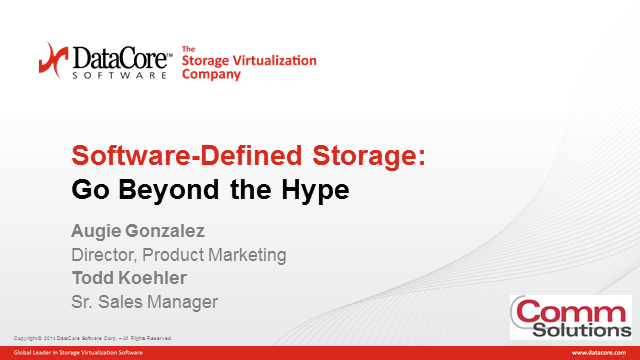 Webinar: Software-Defined Storage: Go Beyond the Hype