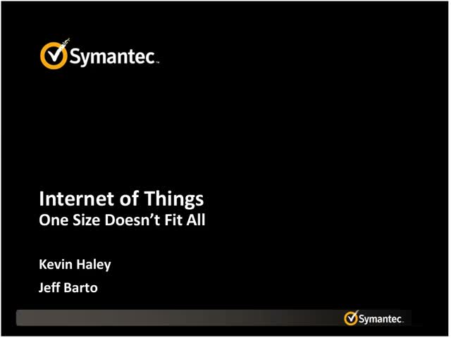 Internet of Things - One Size Doesn't Fit All