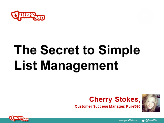 The Secret to Simple List Management