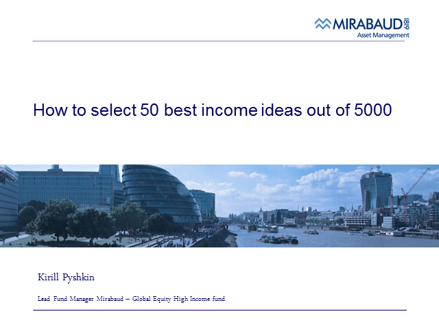 How to Select 50 Best Income Ideas out of 5000