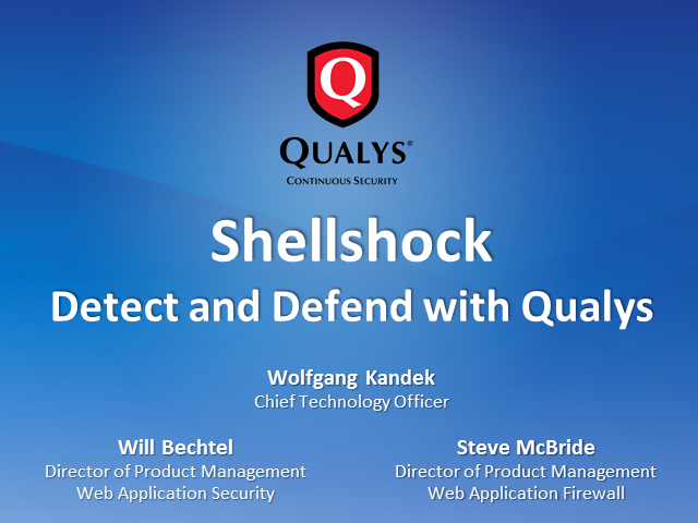 Shellshock: Detect and Defend with Qualys