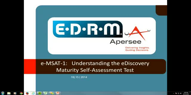 eMSAT-1: Understanding the EDRM eDiscovery Maturity Self-Assessment Tool