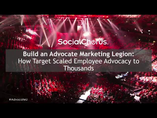 How to Build an Advocate Marketing Legion Like Target