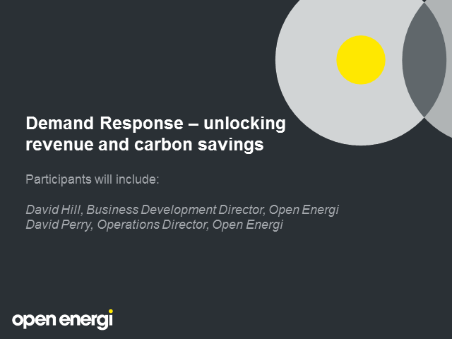 Demand Response: unlocking revenue and carbon savings