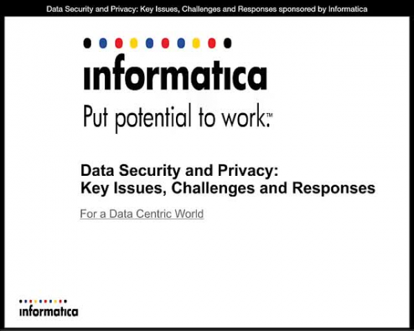 Data Security and Privacy: Key Issues, Challenges and Responses