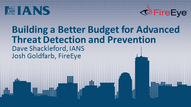 Building a Better Budget for Advanced Threat Detection and Prevention