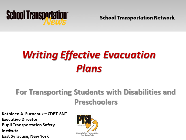 Training Staff for Safely Evacuating Students