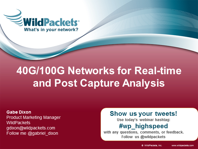 Visibility and Analysis into 40G/100G Networks