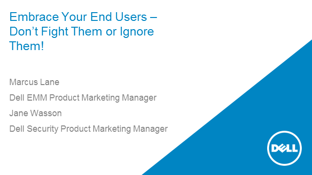 Embrace Your End Users – Don't Fight Them or Ignore Them!