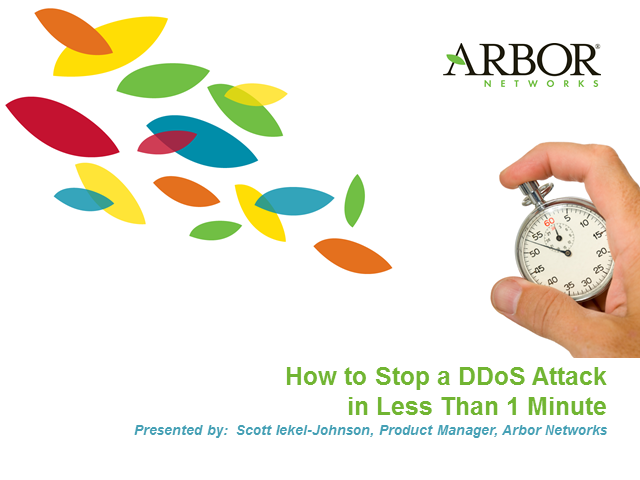 How to Stop a DDoS Attack in Less Than 1 Minute