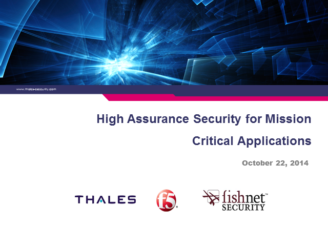 High Assurance Security for Mission Critical Applications