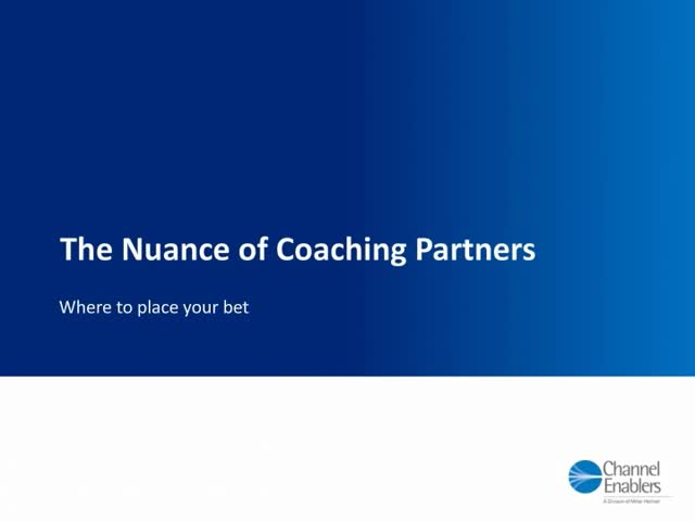 The Nuance of Coaching Partners