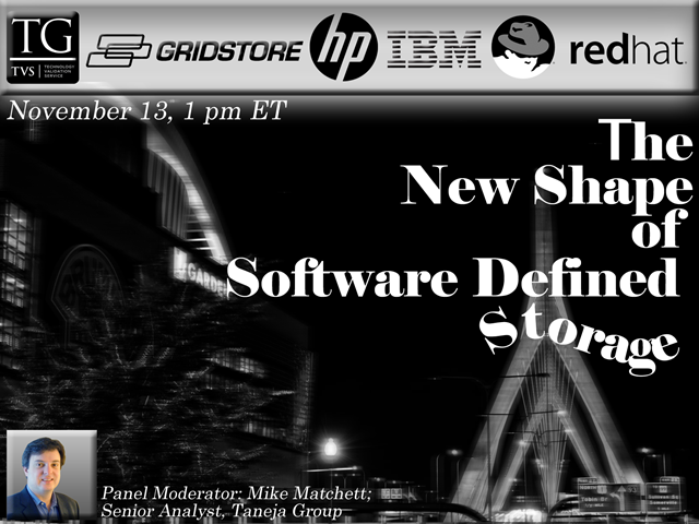 Vendor Panel: The New Shape of Software Defined Storage