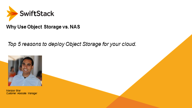 Why to Use Object Storage vs. NAS for the Cloud
