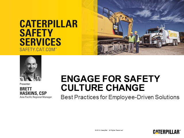 Engage for Safety Culture Change: Best Practices for Employee-Driven Solutions
