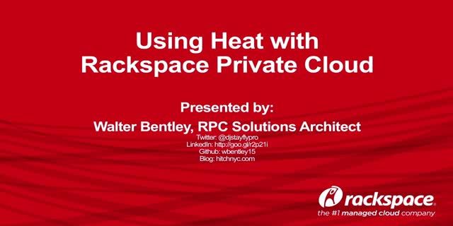 Using Heat with Rackspace Private Cloud