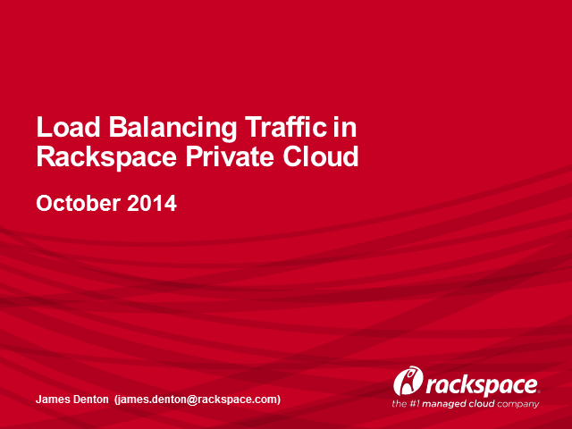 Using the F5 LTM to balance application traffic with Rackspace Private Cloud