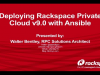 Deploying Rackspace Private Cloud v9.0 with Ansible