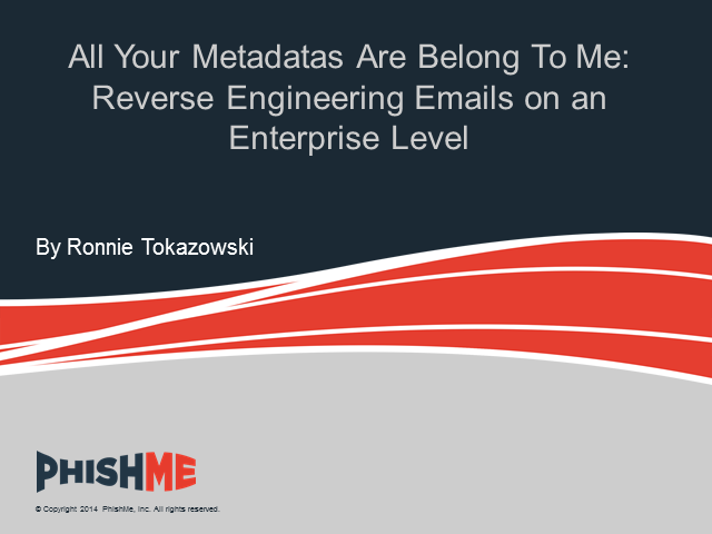 All Your Metadatas Are Belong To Me: Reverse Engineering Emails on an Enterprise
