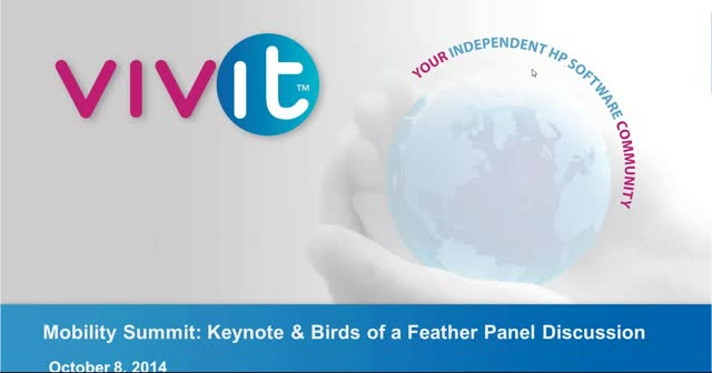 Mobility Summit - Keynote & Birds of a Feather Panel Discussion
