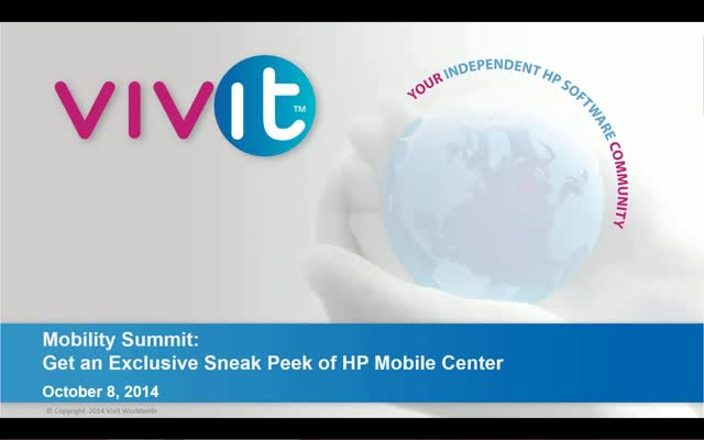 Mobility Summit - Get an Exclusive Sneak Peek of HP Mobile Center