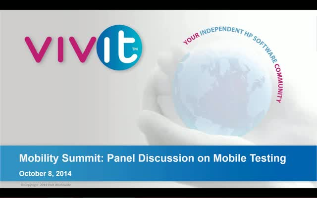 Mobility Summit - Panel Discussion on Mobile Testing
