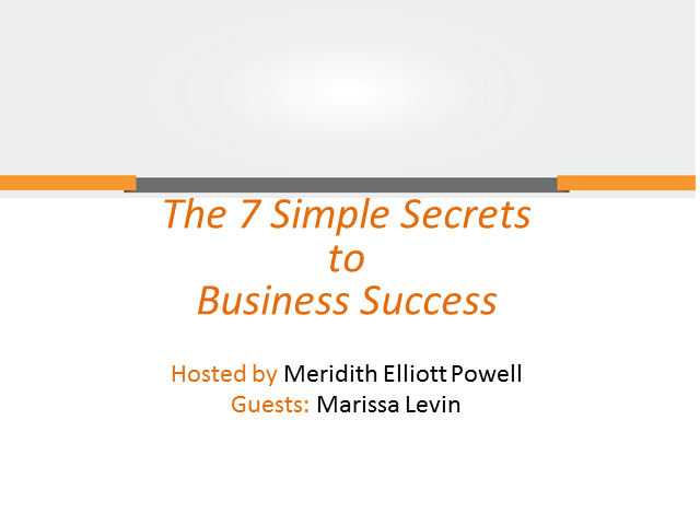 The 7 Simple Secrets to Business Success