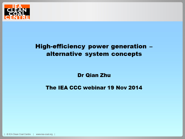 High-efficiency power generation - review of alternative system concepts