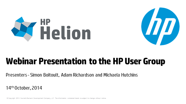 The HP Helion Portfolio driving a new style of IT